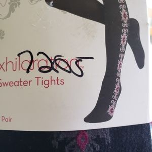 Sweater printed tights bundle size S/M